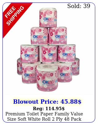 premium toilet paper family value size soft white roll ply pac