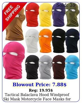 tactical balaclava hood windproof ski mask motorcycle face masks men wome