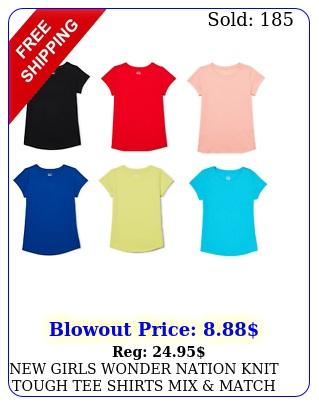 girls wonder nation knit tough tee shirts mix match buy more save mor