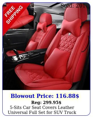 sits car seat covers leather universal full set suv truck sedan waterproo
