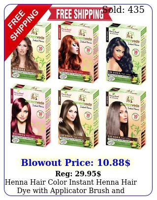 henna hair color instant henna hair dye with applicator brush glove