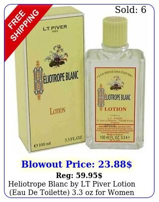 heliotrope blanc by lt piver lotion eau de toilette oz wome