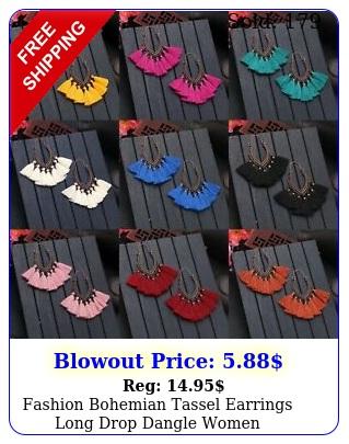 fashion bohemian tassel earrings long drop dangle wome