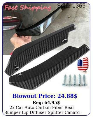 x car auto carbon fiber rear bumper lip diffuser splitter canard protector to