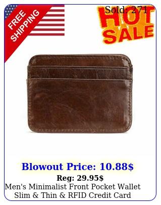 men's minimalist front pocket wallet slim thin rfid credit card card holde