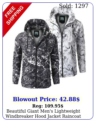 beautiful giant men's lightweight windbreaker hood jacket raincoa