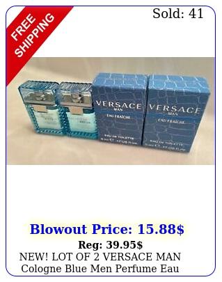 new lot of versace man cologne blue men perfume eau fraiche edt oz m