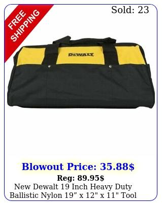 dewalt inch heavy duty ballistic nylon x x tool bag dc