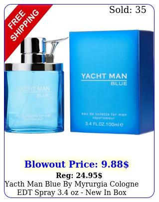 yacth man blue by myrurgia cologne edt spray oz i