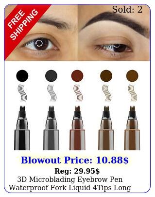 d microblading eyebrow pen waterproof fork liquid tips long last makeup penci