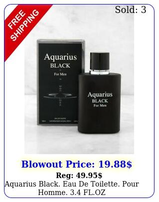 aquarius black eau de toilette pour homme flo