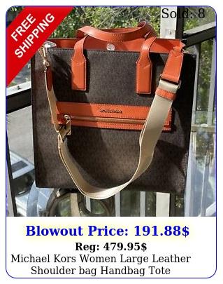 michael kors women large leather shoulder bag handbag tote crossbody tangerin