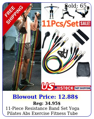 piece resistance band set yoga pilates abs exercise fitness tube workout ban