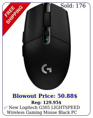 logitech g lightspeed wireless gaming mouse black pc mac window