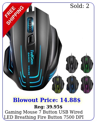 gaming mouse button usb wired led breathing fire button dpi laptop p