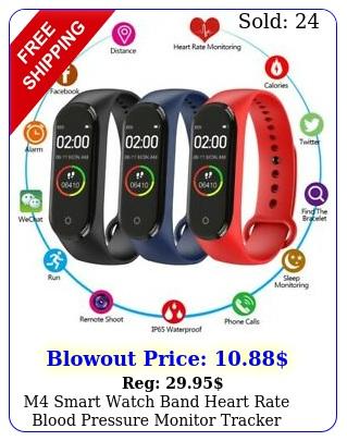 m smart watch band heart rate blood pressure monitor tracker fitness wristban