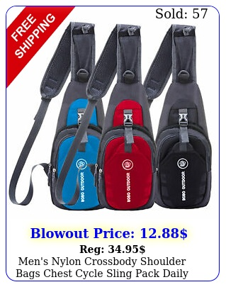 men's nylon crossbody shoulder bags chest cycle sling pack daily travel backpac