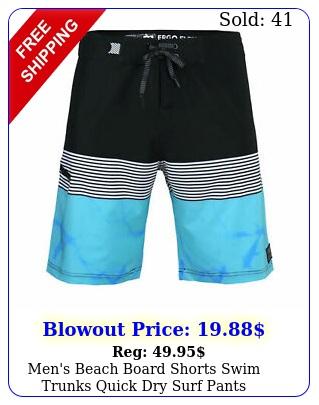men's beach board shorts swim trunks quick dry surf pants swimwear plu