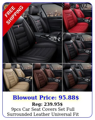 pcs car seat covers set full surrounded leather universal fit vehicles auto su
