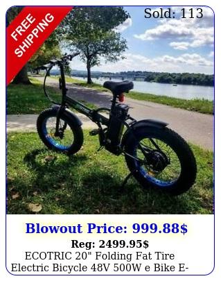 ecotric folding fat tire electric bicycle v w e bike ebik