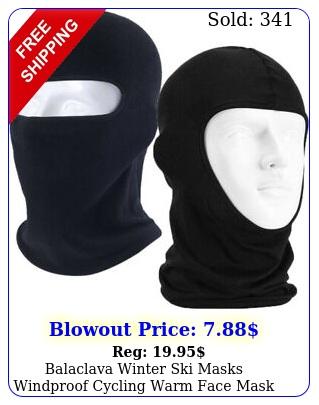 balaclava winter ski masks windproof cycling warm face mask outdoor sport