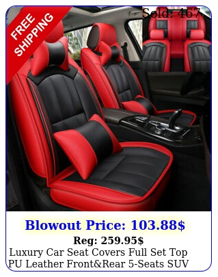 luxury car seat covers full set top pu leather frontrear seats suv truck aut