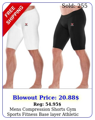mens compression shorts gym sports fitness base layer athletic workout pan