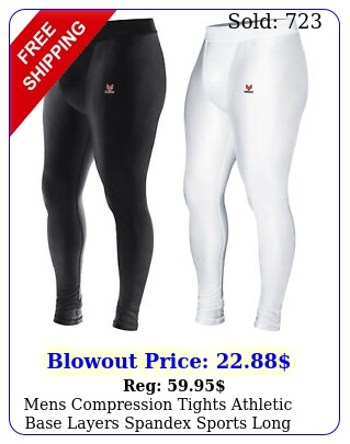 mens compression tights athletic base layers spandex sports long pants quick dr
