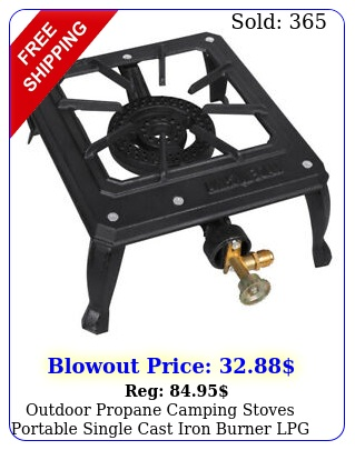outdoor propane camping stoves portable single cast iron burner lpg bbq cooke