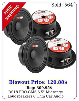 ds progm midrange loudspeakers ohm car audio speaker mid range pac
