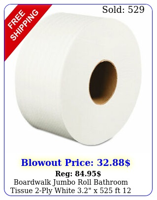 boardwalk jumbo roll bathroom tissue ply white x ft rollscarto