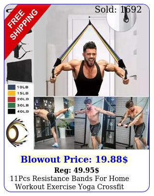 pcs resistance bands home workout exercise yoga crossfit fitness trainin