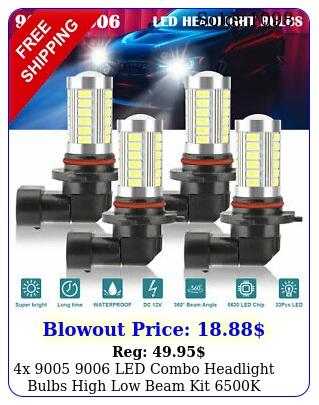 x  led combo headlight bulbs high low beam kit k xenon super whit