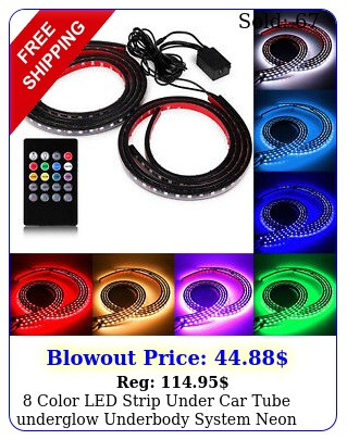 color led strip under car tube underglow underbody system neon lights ki