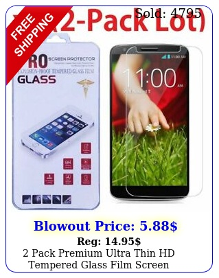 pack premium ultra thin hd tempered glass film screen protector lg