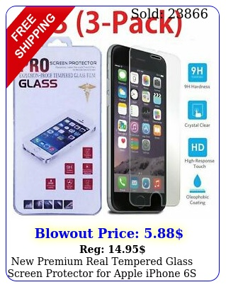 premium real tempered glass screen protector apple iphone