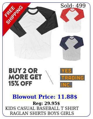 kids casual baseball t shirt raglan shirts boys girls plain tee cotton shirt