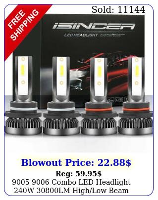 combo led headlight w lm highlow beam k white bulbs ki