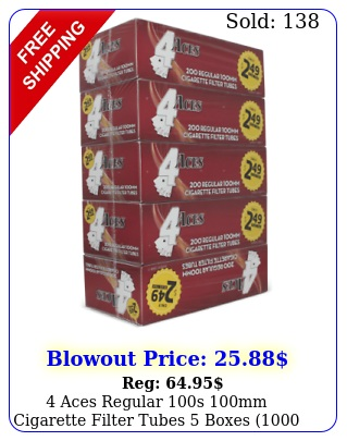 aces regular s mm cigarette filter tubes boxes tube