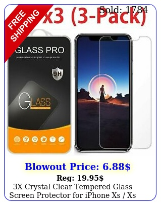 x crystal clear tempered glass screen protector iphone xs xs max xr