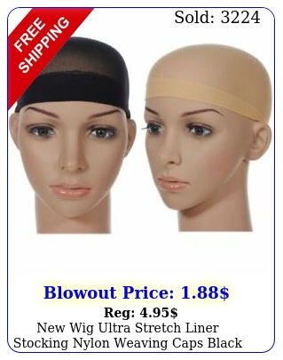 wig ultra stretch liner stocking nylon weaving caps black nude brow