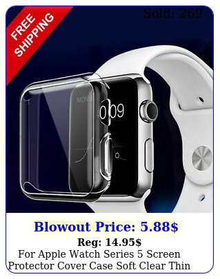 apple watch series screen protector cover case soft clear thin mm m
