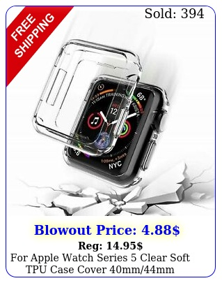 apple watch series clear soft tpu case cover mmm