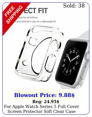 apple watch series  full cover screen protector  soft clear cas