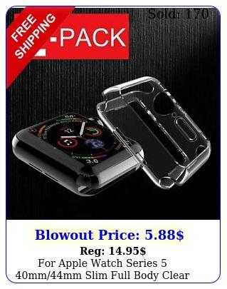 apple watch series mmmm slim full body clear soft tpu case cove