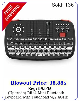 upgrade rii i mini bluetooth keyboard with touchpad wghz usb dongl
