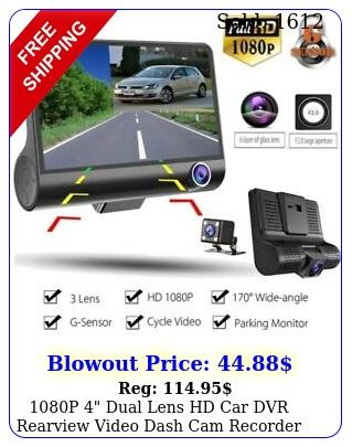 p dual lens hd car dvr rearview video dash cam recorder camera gsenso