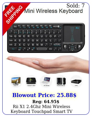 rii x ghz mini wireless keyboard touchpad smart tv android tv p