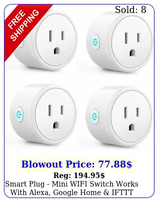 smart plug mini wifi switch works with alexa google home iftt