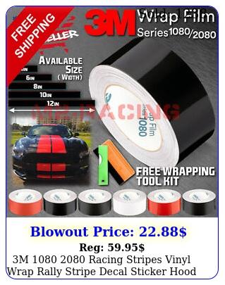 m  racing stripes vinyl wrap rally stripe decal sticker hood roo
